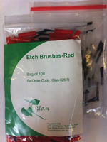 ETCH BRUSHES CLEAR PK 100