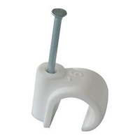 R16 Round Cable Clips White