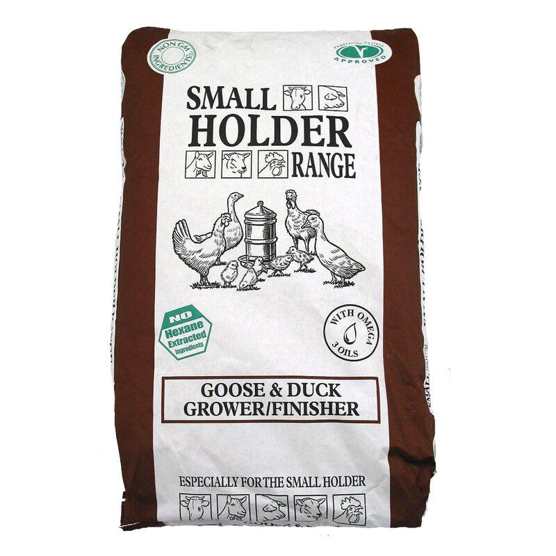 Allen & Page Small Holder Goose & Duck Grower/Finisher Pellets 20kg