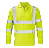 Lokon Flame Retardant Anti Static Long Sleeve Hi-Visibility Polo Shirt Yellow