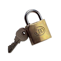 TRI CIRCLE 38 MM BRASS PADLOCK KEYED ALIKE