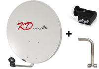 KD 60cm Dish + Tower Bracket 2 + Quad X 5pck