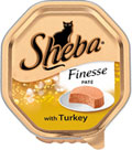 Sheba Foils Finesse Pate Turkey 85g x 18