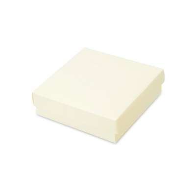 BOX & LID IVORY 140X140X40MM