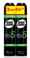 Right Guard Total Defence 5 Men Fresh Aerosol 250ml Banded