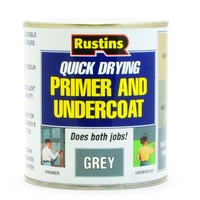 RUSTINS QUICK DRYING GREY PRIMER & UNDERCOAT 1LTR