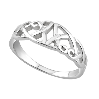 S/S CELTIC KNOT RING(BOXED)