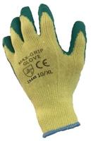 MAX GRIP Glove Latex Palm Coated Green (Pair)