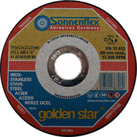 S/S Cutting Disc Gold Star 115mm x 1mm