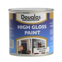 DOUGLAS HIGH GLOSS  PAINT BRILIANT WHITE 250ML
