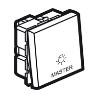 Arteor Master Switch For Light 2 Module Square - Magnesium  | LV0501.2622