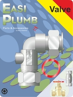 "Easi Plumb 1/2"" Cu x Fi Service Valve Elbow Pattern"