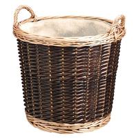 2 Tone Medium Wicker Round Basket without liner