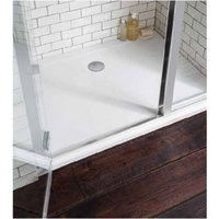SHOWER TRAY 1000X800MM  R/H OFFSET C/W TRAP
