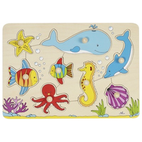 Wooden Peg Puzzle - Sea Life