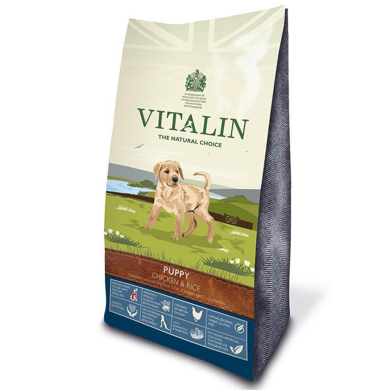 Vitalin Puppy Grain Free Chicken & Rice 12kg