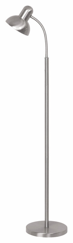 Mercator Ben Floor Lamp Brushed Steel