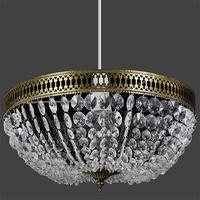 Calla Acrylic Pendant Clear / Antique Brass