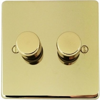 Flat Plate Polished Brass LV DIMMER 2G 2 Way 250W | LV0701.0530