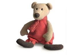 Teddy Bear with Red Scarf