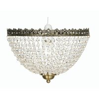 Ekon Glass Beaded Pendant Shade Antique Brass