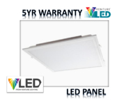 VENTURE 38W LED PANEL 600X600MM 840 3600LM (5YR WARRANTY)  WITH DRIVER
