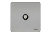 Schneider Ultimate Screwless Single TV/FM CO-AX Stainless Steel Black LV0701.0955
