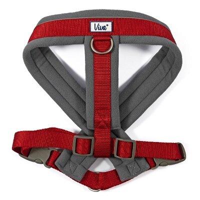 Ancol Viva Padded Dog Harness Red 52-71cm