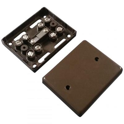Alarm Junction Box 10 Screw Brown J80B