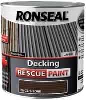 Ronseal Decking Rescue Paint 2.5lt - English Oak
