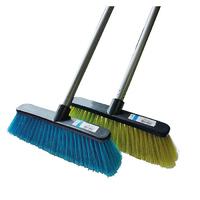 Leecroft Household Broom Soft & Coloured Handle