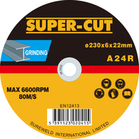Super-Cut Steel Grinding Discs