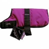"""Outhwaite Dog Coat Padded Lining 10"""" Raspberry x 1"""