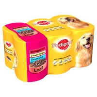 Pedigree Cans Adult in Loaf - Mixed 400g 6pk x 4