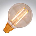 LED VINTAGE GLOBE DIMMABLE LAMP 240 VOLT 4 WATT BC 300 LUMEN 2000K 15000 HOUR