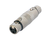 Neutrik NA3FF | 3 Pin XLR female - 3 Pin XLR female
