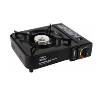 Portable Cooker Metallic Black (Flat Stove) - GAS006-BK (OLSTOVE)