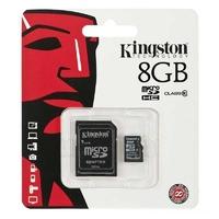 SDC04/8GB | Kingston Technology 8 GB microSDHC, 4 MB/s, Black, Gold, 3.3V