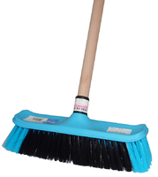 No311 House Broom with Wooden Handle
