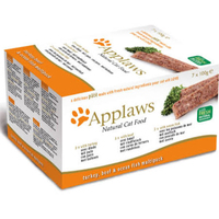 Applaws Cat Foil - Pate Multipack Fresh Selection Turkey Beef & Fish 100g x 7
