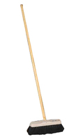 "12"" Soft Sweeping Broom W/ Threaded Handle"