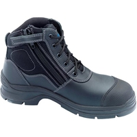 Blundstone 319 Lace Up/Zip Safety Boot Black
