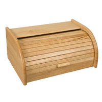Rubberwood Roll Top Bread Bin