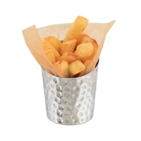 Chip Cone Angled Stainless Steel Hammered 11.6 x 9.5cm