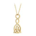 nine karat Gold Celtic Twist Trinity Pendant S46638 from Solvar Jewellers, Ireland