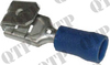 Terminal 6.3mm Piggy Back Blue