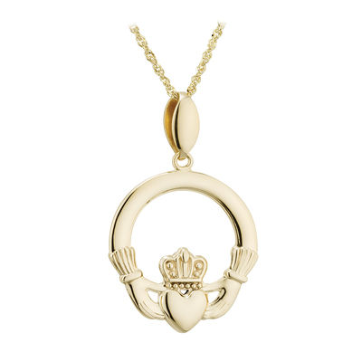 14K SMALL CLADDAGH PENDANT