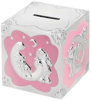 Silver Plated Money Box (Pink) | TC113