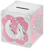 Silver Plated Money Box (Pink) | TC113