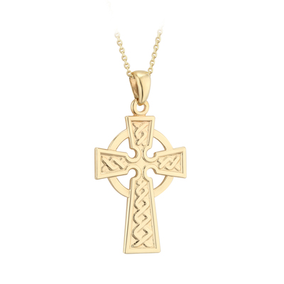 14K CELTIC CROSS PENDANT 26MM